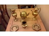 "BRASS FOR BRASS!!! HEAVY BRASS ORNAMENTS.IDEAL FOR COLLECTOR:4""-14""."
