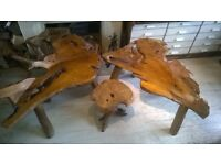 Teak Benches and table