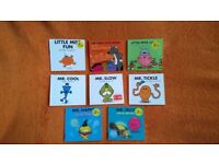 8 x MR. MEN and LITTLE MISS MR. HAPPY Bundle of books R.Hargreaves