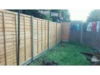 Cheap fence landscape, East London