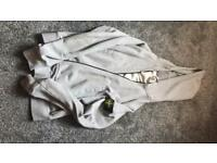 Grey stone island hoodie