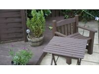 Garden Bench and Table