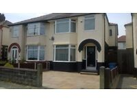 AVAILABLE SEPTEMBER.Modern furnished 3 bedroom semi-detached property in Castleview Road, West Derby