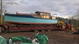 WOODEN BOAT ...Restoration or land cabin conversion