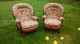 Two Cottage style armchairs