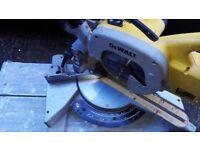 De walt mitre saw and Makita circular 110v