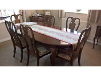 Dining Room Table, Chairs and Side Cupboard w/ Folding Top. Buyer collects!