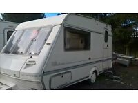 2 Berth Caravan. ABI AIRSTREAM ACE. Ideal starter. Selling due to ill health. Bargain