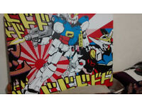 Gundam anime wall art