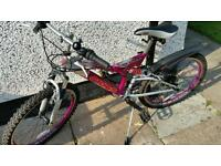 CROSS Girls full suspension mountain bike