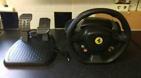 Xbox/PC thrustmaster Ferrari steering wheel & pedals