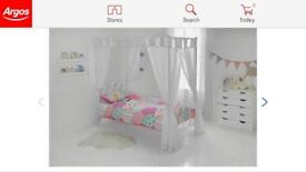 Four poster single bed