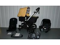 LIMITED EDITION SUNNY GOLD/BLACK Bugaboo Cameleon 3rd Generation!