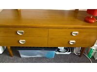 light brown chest of drawer with mirror