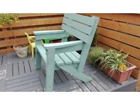 WOODEN HANDMADE CHAIR, UNIQUE FOR GARDEN AND PATIO SEAT