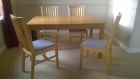 Good Quality IKEA Dining Table and 4 Chairs (worth £430)