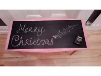 Table For Girls Bedroom Or Playroom with Chalkboard top - Great fun idea