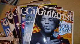 "GUITAR MAGAZINES, ""GUITARIST"" x 10 with some CD's, Amazing mags, vgc."