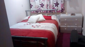 One room in shared accommodation with other two professionals short lease.