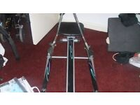 rowing machine v-fit hr3 with padded seat good working order