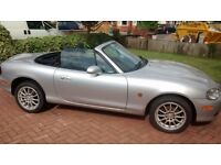 Mazda MX5 Excellent Condition, Silver, Very Low Milage, Full Service History