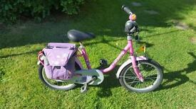 Puky Z6 girls bike good condition with paniers