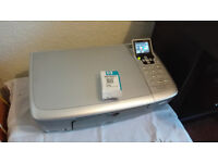 hp 2575 photosmart all in one printer scanner with cables & software & unopened 3 colour cartridge