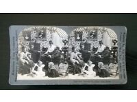 """original stereoscopic photograph ' ( vintage ' circa 1900s ) ' """" there's no place like home """""""