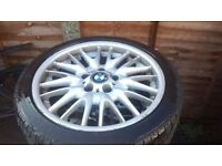 MV1 GENUINE FRONT 8J ALLOY WITH LEGAL TYRE