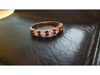 9ct Ruby&Diamond Eternity Ring