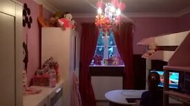 Full white children's bedroom for sale. 2 years old. Good condition apart from desk