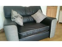Small sofa reversible cushions like new! Real leather or fabric.