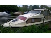 Shetland Saxon Cabin Cruiser with 25hp Mariner and 4 wheel braked trailer