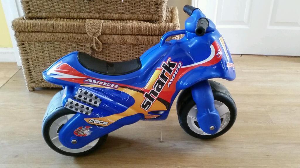 Ride on motorbike avigo shark motor bike vgc ride on toy for All ride motors norfolk va