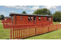 Corner pitched holiday lodge for sale at Yaxham Waters Holiday Park set in tranquil rural Norfolk!!