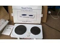 RUSSELL HOBBS DOUBLE COOKING RINGS ELECTRIC//WHITE//BOXED