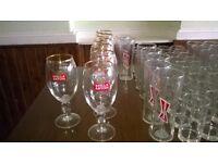 180 mixed pub glassware