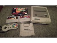SNES, 1 controller and games