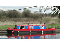 'Hot Tamale', lovely 38 foot narrowboat, with a mooring near London