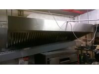 Two oven extractor canopies, nearly new - 3 metres wide and 2 metres wide - central London bargain