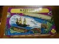 WOODKRAFTER MAYFLOWER SHIP IN A BOTTLE