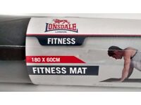 LONSDALE Black Fitness Mat NEW