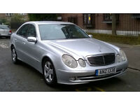 MERCEDES E320 CDI AVANTGARDE AUTO 2005 55 REG MET SILVER / LEATHER 4 DOOR SALOON PAS A/C 158K SUPERB