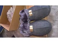 ugg slippers ..great quality . hard heavy soles ..you wont want to take them off ..