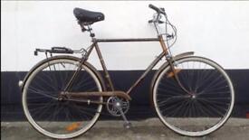 Vintage Raleigh Men's Bicycle with Kryptonite lock.