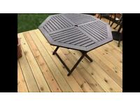 Garden table brown wood