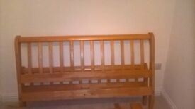 double bed frame. solid wood. excellent condition