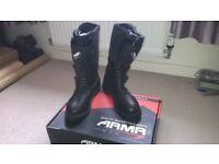 ARMR motorcross trials dualsport adventure motorcycle boots Size 11 BNIB