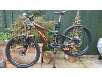 Giant Trance Advanced Pro Carbon Frame Full Suspension Mountain Bike, Small, 27.5in carbon wheels.
