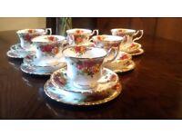 Vintage Royal Albert Tea Cup, Saucer and Tea Plate X6 Beautiful Condition